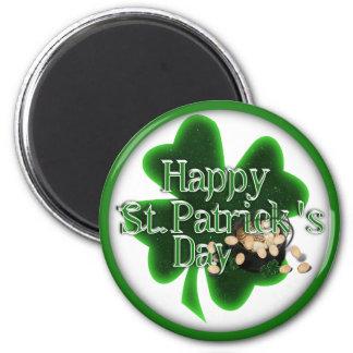Happy St.Patrick's Day! 2 Inch Round Magnet