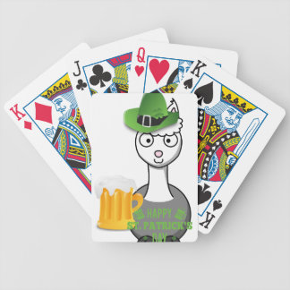 happy st patricks day alpaca bicycle playing cards