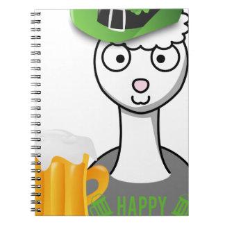 happy st patricks day alpaca notebook