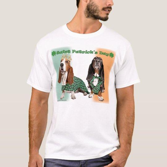 Happy St. Patricks Day Basset T-Shirt