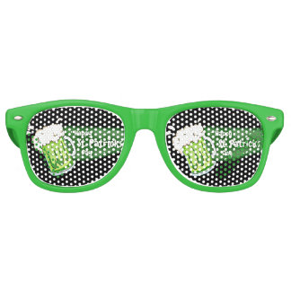 Happy St Patricks Day Beer Banner Retro Sunglasses