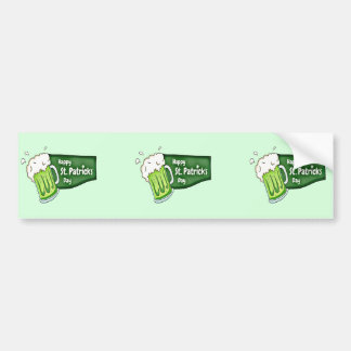 Happy St. Patricks Day Beer Bumper Sticker