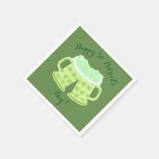 Happy St-Patrick's Day beers napkins