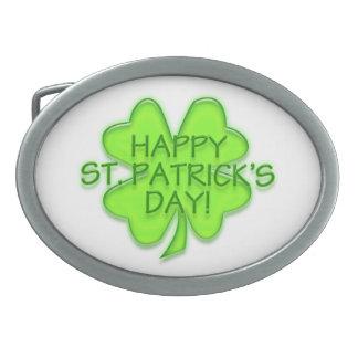 Happy St. Patrick's Day Belt Buckle
