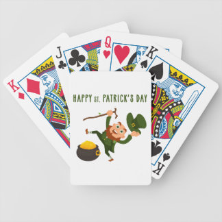 Happy St. Patrick's Day Bicycle Playing Cards