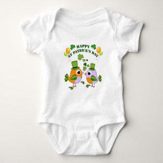 Happy St Patricks Day birds Baby Bodysuit