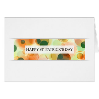 happy st patricks day (bokeh) greeting cards