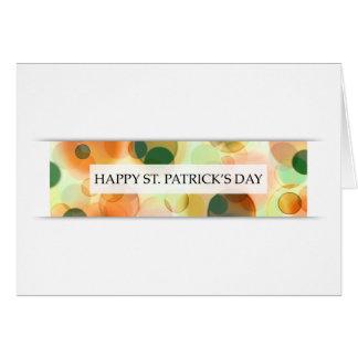 happy st patricks day (bokeh) note card