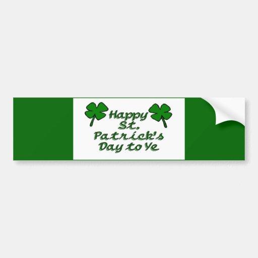 Happy St. Patricks Day Bumper Stickers