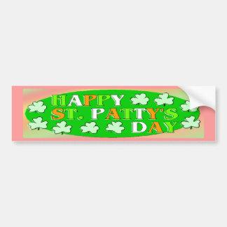 Happy St Patrick's Day Car Bumper Sticker
