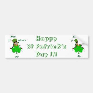 Happy St Patrick's Day Bumper Stickers