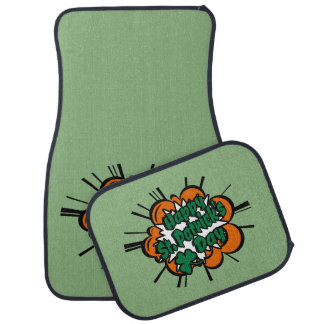 Happy St. Patrick's Day Car Mat