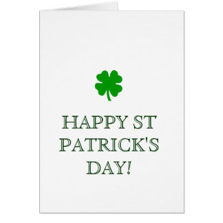 HAPPY ST PATRICK'S DAY! card