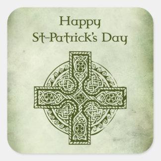 Happy St Patrick's Day.Celtic cross Stickers
