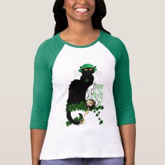 Happy St Patrick's Day Chat Noir T-Shirt