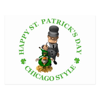 Happy St Patrick's Day - Chicago Style Postcard