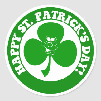 HAPPY ST PATRICK'S DAY CLASSIC ROUND STICKER