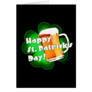 Happy St. Patrick's Day Clover & Mug Card