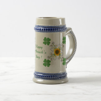 Happy St. Patrick's Day ! Clover with Calla Beer Stein