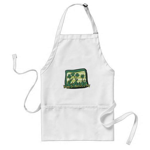 Happy St. Patrick's Day Clovers Apron