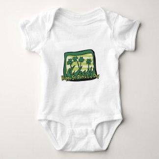Happy St. Patrick's Day Clovers Baby Bodysuit