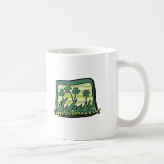 Happy St. Patrick's Day Clovers Basic White Mug