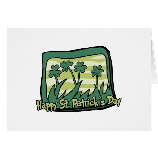 Happy St. Patrick's Day Clovers Cards
