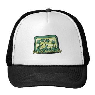 Happy St. Patrick's Day Clovers Mesh Hats