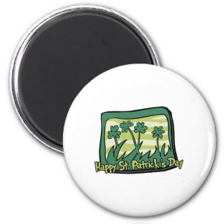 Happy St. Patrick's Day Clovers Fridge Magnets