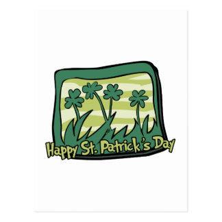 Happy St. Patrick's Day Clovers Postcard