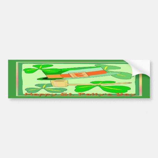Happy St Patrick's Day Collage Bumper Sticker