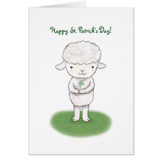 Happy St. Patrick's Day Cute Irish Good Luck Lamb Cards