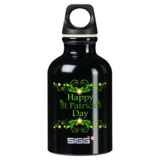 Happy St Patricks Day decorative Water Bottle