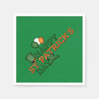 Happy St Patricks Day Embellished Napkin