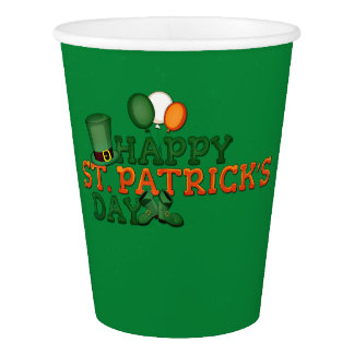 Happy St Patricks Day Embellished Paper Cup