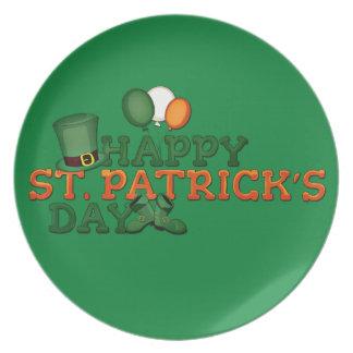 Happy St Patricks Day Embellished Plate