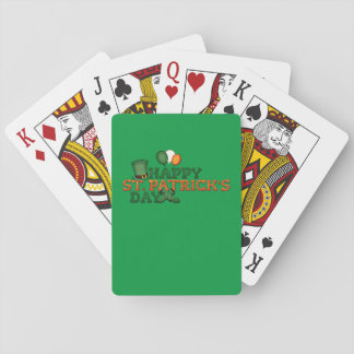 Happy St Patricks Day Embellished Playing Cards