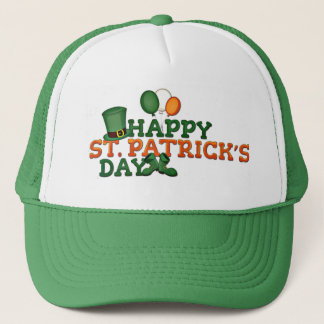 Happy St Patricks Day Embellished Trucker Hat