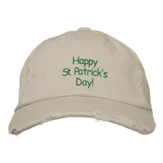 Happy St. Patrick's Day Embroidered Hat