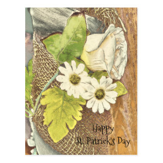 Happy St. Patrick's Day Flowers Postcard