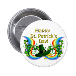 Happy St. Patrick's Day Gift 2 Inch Round Button