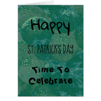 Happy St. Patrick's Day Green Balloons Card