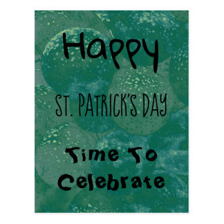 Happy St. Patrick's Day Green Balloons Postcard