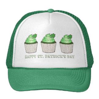 Happy St. Patrick's Day Green Shamrock Cupcake Hat