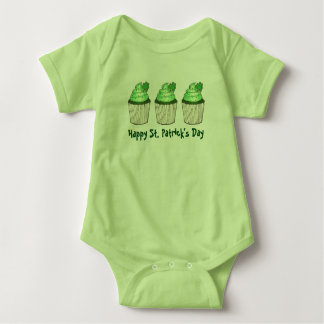 Happy St. Patrick's Day Green Shamrock Cupcake Tee