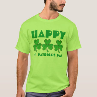 Happy St. Patrick's Day Green Shamrock Shirt