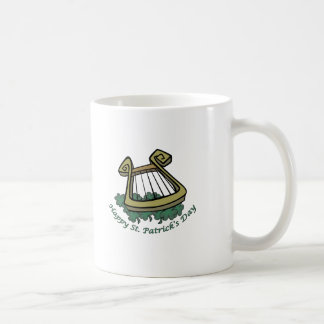 Happy St. Patrick's Day Harp Basic White Mug