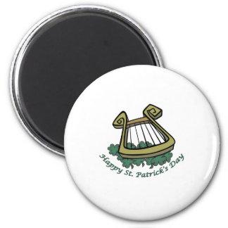 Happy St. Patrick's Day Harp Magnet