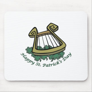Happy St. Patrick's Day Harp Mouse Mat