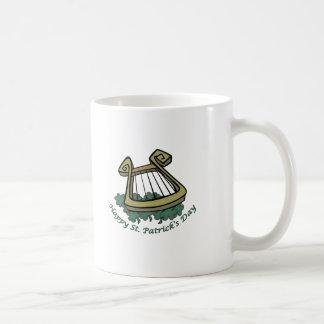 Happy St. Patrick's Day Harp Coffee Mugs